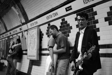 Busker, Kentish Town Station