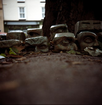Eerie clay heads, Derby